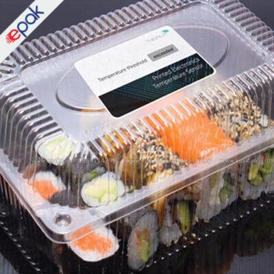 in tem dán hộp nhựa đựng thức ăn